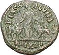 TREBONIANUS GALLUS Viminacium Bull Lion Legions Large Ancient Roman Coin i27273