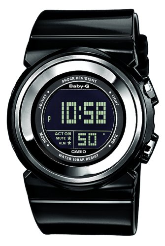 Casio Baby-G BGD-100-1ER Ladies Digital Quartz Watch with Black Resin Strap