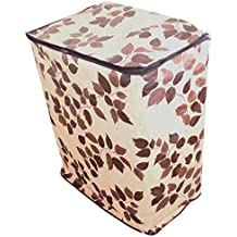Dream Care Floral Brown Coloured Waterproof & Dustproof Washing Machine Cover For All Semi Automatic HYUNDAI Machines