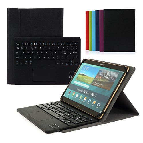 CoastaCloud Bluetooth 3.0 Tastiera Cassa Nera per Samsung Galaxy Tab 10.1 Pro Tablet con QWERTY Italiano Layout Nero Smontabile Tastiera e touchpad - Compatibile con 9.6-10.6 pollici Qualsiasi Android / Windows Tablet