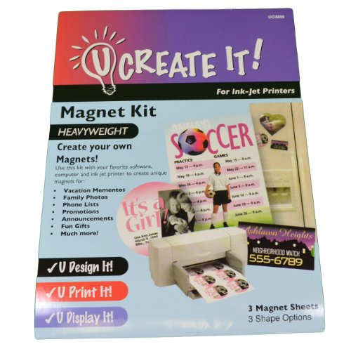 "Magnet Kit "" U CREATE IT "" Heavyweight Paper for Printers - 1"