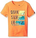 Quiksilver Toddler Boys Word Up Tee, Shocking Orange, 4T