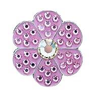 Bella Crystal Flower Hat Clip Set, Pink