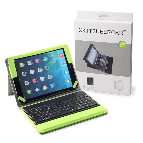 [wireless keyboards],XKTTSUEERCRR PU Leather Case w/ Removable Detachable Wireless ABS Bluetooth Keyboard For