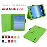 Elsse Premium Folio Stand Case Cover for E-Fun 7.85'' NX785QC8G Nextbook 8 Quad Core (2014 Release) Android 4.2 Capacitive Touch Screen Tablet (Green)