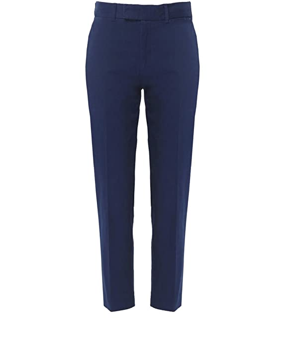 Paul by Paul Smith Cropped Straight Leg Trousers Navy
