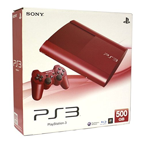 PS3 500GB Console Red (Ps3 Console 500gb New compare prices)