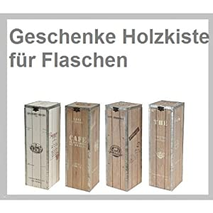 weinkiste holzkiste geschenkkiste f weinflasche k che haushalt. Black Bedroom Furniture Sets. Home Design Ideas