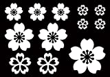 Amazon.co.jpデザイン工房SIGNS CAR 桜 さくら 花びら ステッカー5 12枚セット 車 窓 給油口 綺麗にはがせる ウィンドウステッカー ホワイト