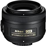 Nikon AF-S DX NIKKOR 35mm f/1.8G Fixed Zoom Lens with Auto Focus for Nikon DSLR Cameras