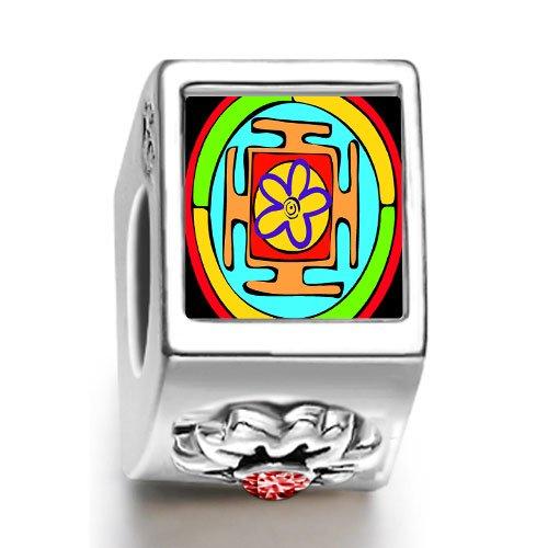 Soufeel Religion Taoism The Eight Diagram January birthstone photo flower European charm bead