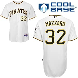 Vin Mazzaro Pittsburgh Pirates Home Authentic Cool Base Jersey by Majestic by Majestic