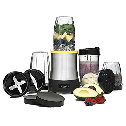BELLA Rocket Extract PRO Power Blender, 15 Piece set, stainless steel (Ninja One Cup Blender compare prices)