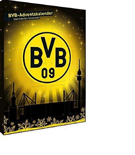 Adventskalender Schokoladenkalender Kalender BVB Borussia Dortmund 09 Weihnachtskalender Fussball Bundesliga gefüllt mit Schokolade versüsse Deine Advenrszeit