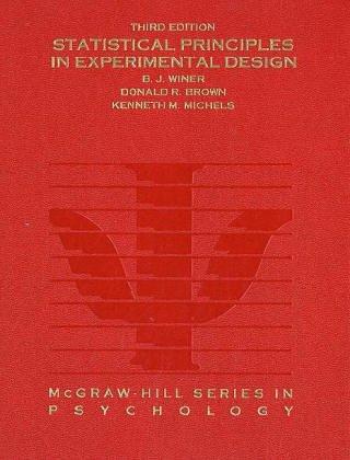 Statistical Principles In Experimental Design PDF