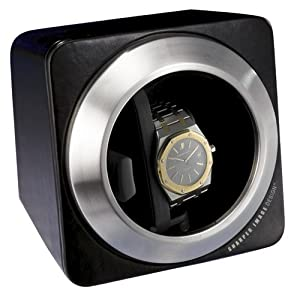 Sharper Image Deluxe Leather Watch Winder (SI314BLK)