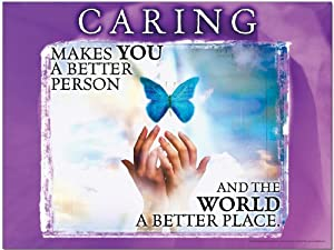 Caring Motivational Laminated Poster, Character Education Art Print