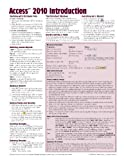 img - for Microsoft Access 2010 Introduction Quick Reference Guide (Cheat Sheet of Instructions, Tips & Shortcuts - Laminated Card) by Beezix Inc (2010) Pamphlet book / textbook / text book