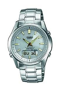 Casio Herren-Armbanduhr XL Wave Ceptor Analog - Digital Quarz Edelstahl LCW-M100DSE-7A2ER