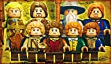 Lego Lord Of The Rings Xbox Wii PS3 Over 1 Meter Wide XXL Glossy Poster Art Print!