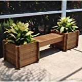 TherMod Modula Wood Planter Bench 82 in. x 18 in.