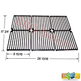 64103 Porcelain Cast Iron Replacement Cooking Grid Grate for Select Brinkmann and Charmglow Gas Grill Models, Set of 3