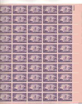 Vermont 150th Anniversary Sheet of 50 x 3 Cent US Postage Stamps NEW Scot 903