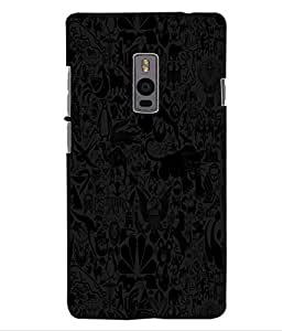 ColourCraft Lovely Pattern Design Back Case Cover for OnePlus Two