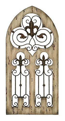 Deco 79 Wood Metal Wall Decor, 50 by 24-Inch 0