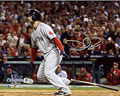 """David Ross Boston Red Sox 2013 World Series Champions Autographed 8"""" x 10"""" Hitting Photograph - Fanatics Authentic Certified"""