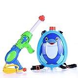 Lucear ペンギンバックパックの水鉄砲 夏の子供のウォーターガンおもちゃ