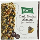 Kashi TLC Chewy Granola Bar, Dark Mocha Almond, 6-Count Bars (Pack of 6)