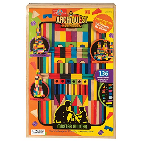 T.S. Shure ArchiQuest Master Builder Wooden Building Blocks Set (136-Piece) (Wooden Building Fun Set compare prices)