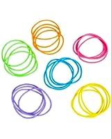 "Assorted Neon Jelly Bracelets - 2.75"" - New"