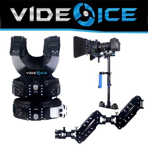 Video Ice S-120 Vest Dual Arm Carbon Fiber Camera Stabilizer Steadycam DSLR Rig