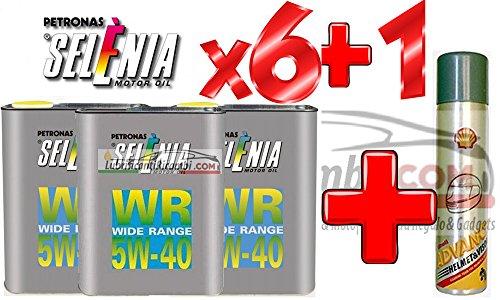 Olio-Motore-Selenia-WR-5W40-DIESEL-Originale-FIAT-ALFA-ROMEO-LANCIA-6-Litri-Shell-Advance-Helmet-Visor-Spray-Pulitore-casco-Finestrini-auto-piastrelle-specchi-e-vetri-casa