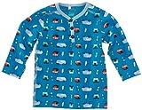 NAME IT Baby - Jungen Hemd 13084149 IBRAHIM CU NB LS TOP, Gr. 62, Mehrfarbig (DRESDEN BLUE)