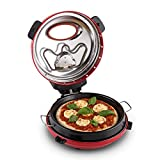 Klarstein Masaniello Steinofen Pizza Maker Miniofen-Pizzaofen mit Steinplatte rot