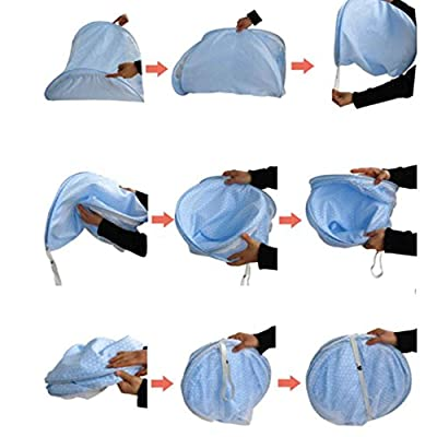 Baby Infant Bed Canopy Mosquito Net Cotton-padded Mattress Pillow Tent Foldable Blue