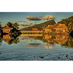 French Polynesia Tropical Wall Décor Landscape Photography Print Wall Art Large Wall Art Resort Wall Decor Travel Photography