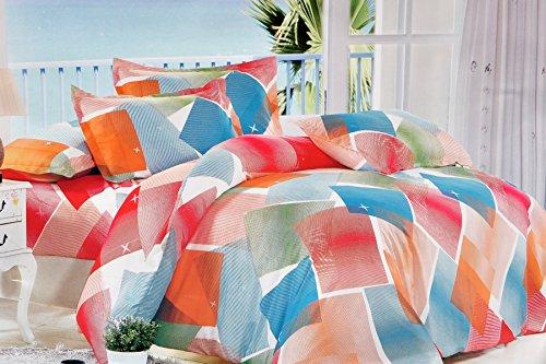Valtellina Valtellina Star With Colorful Print Single Bed Sheet