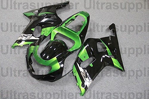 Green w Black Complete Injection Fairing for 2001-2003 Suzuki GSXR 600 750 (2001 Gsxr 750 Parts compare prices)