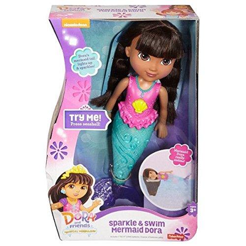 Fisher-Price-Nickelodeon-Dora-and-Friends-Sparkle-and-Swim-Mermaid-Dora