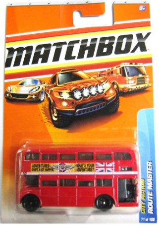 Matchbox 2010, Route Master Bus # 71/100, City Action. 1:64 Scale.