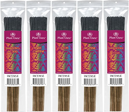 Incense Variety Sampler Set 5 Pack ? Exotic Charcoal Incense Sticks ? 925 Grams ? TOTAL STICK COUNT 425 TO 500 STICKS ? 85 to 100 Sticks Each Bundle ? No Smokey Wood After Smell ? Premium Quality ? Smooth Clean Burn ? Each Stick Is 10.5 Inches Long ? Burn