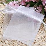 niceeshop(TM) 1Set(50Pcs) Wedding Party Favor Satin Drawstring Organza Bags/Pouch