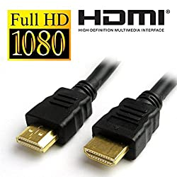 TECHNOTECH HDMI Cable 1.5 Meter Male to Male 1.4v Gold Plated HD 1080p for LCD TV, PC and Laptop (Black)