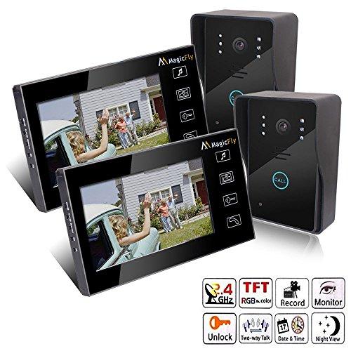 24 Hour Video Surveillance Modern Diagonal Window Cling 16x16 CGSignLab 5-Pack