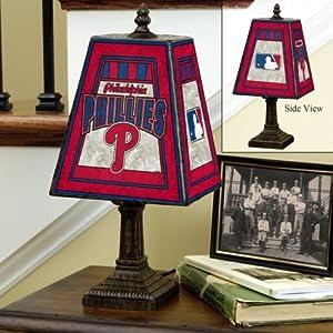 Buy Philadelphia Phillies Memory Company Art Glass Table Lamp MLB Baseball Fan Shop Sports Team... by Memory Company