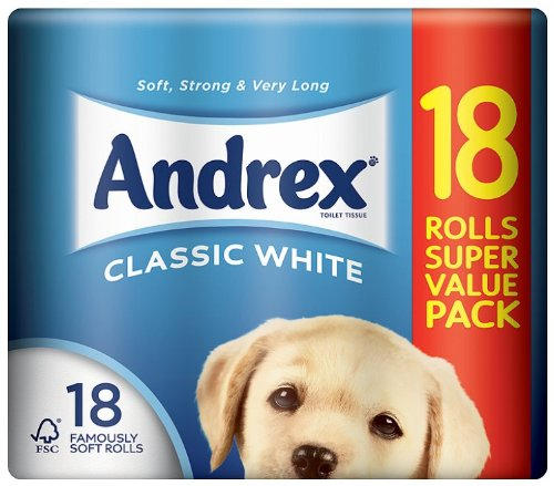 Andrex White Toilet Tissue 18 Roll